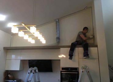 Įtempiamų lubų montavimas 1